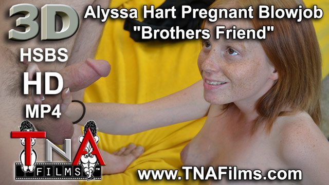 "3D Alyssa Hart Pregnant Blowjob ""Brothers Friend"" Taboo 3D Fetish Video"