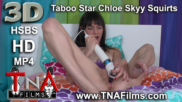 3D Taboo Star Chloe Skyy Masturbates and Squirts in 3D Fetish Video