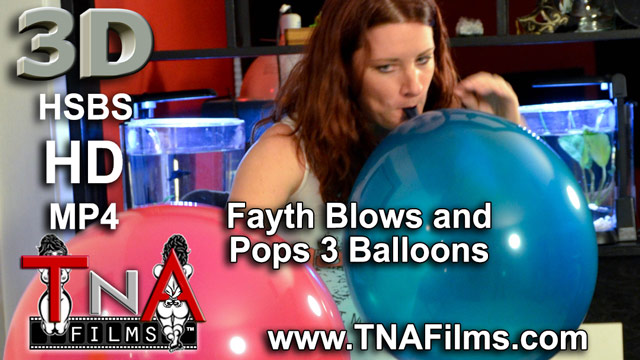 3D Fayth on Fire Blows and Pops 3 Balloons B2P Fetish Video