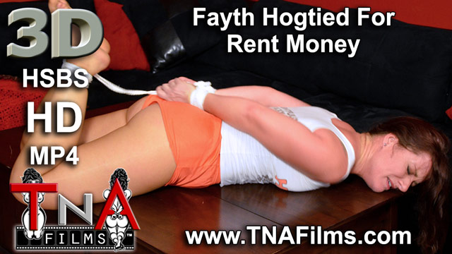 3D Fayth On Fire Finds Herself Hogtied and Attempts to Escape in Rope Bondage Video