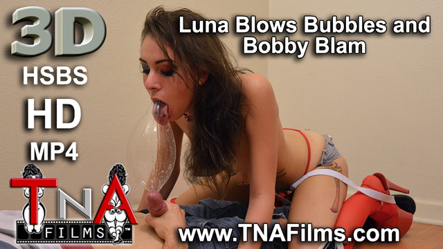 3D Luna C Kitsuen Blows Bubbles and Give's Bobby Blam a 3D Blowjob Porn and Fetish Video