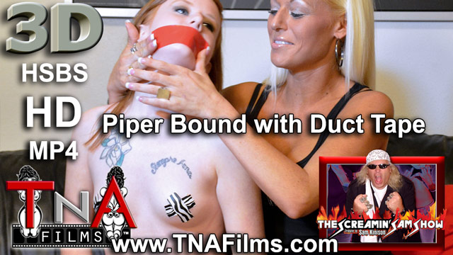 3d Piper Get's Bound With Duct Tape Bondage Video Clip