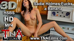 3Dporn Sadie Ficking a Banana in 3D