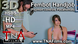 3D Fembot Handjob Porn and Fetish Video