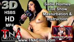 3D Sadie Holmes Live Show Masturbation with Jerk Off Instruction Video
